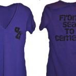 OG Shop V Neck Shirt – Women's Purple