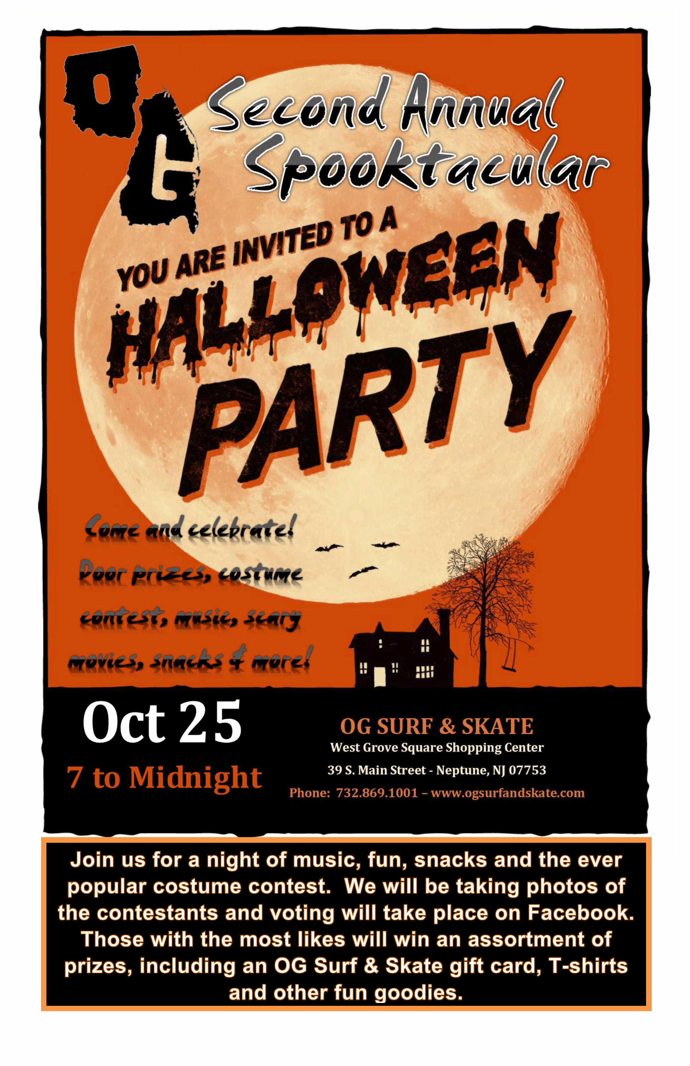 og surf & skate second annual halloween party & costume contest – og